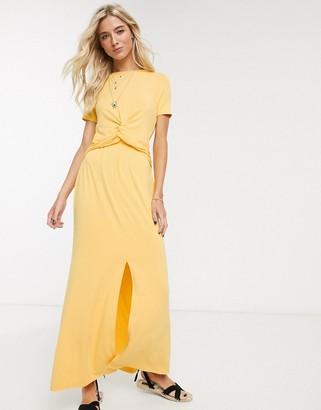 ASOS DESIGN twist front maxi dress in marigold