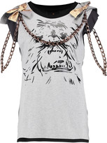 Vivienne Westwood Yeti embellished printed cotton-jersey top