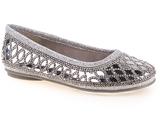 KensieGirl Silver Mirror Ballet Flat - Girls
