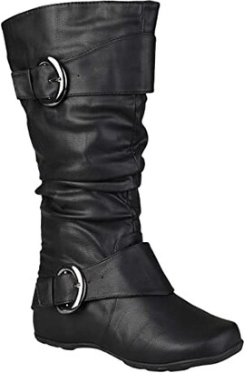 Journee Collection Paris Boot - Extra Wide Calf (Black) Women's Shoes