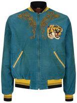Gucci Tiger And Dragon Corduroy Bomber Jacket