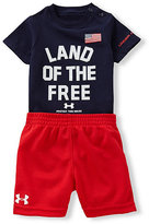 Under Armour 3-12 Months Land Of The Free Bodysuit & Shorts Set