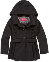 Pink Platinum Girls Midweight Peacoat-Big Kid