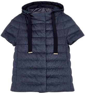 Herno Navy quilted silk-blend jacket