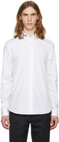 Kenzo White Soundwave Collar Shirt