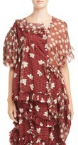 Simone Rocha Women's Gingham Silk Blouse