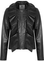 Milly Ruffled Leather Jacket