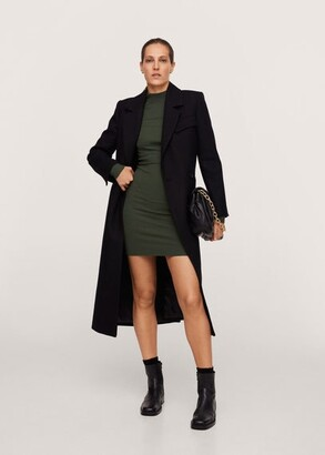 MANGO Ribbed short dress