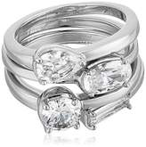 Nicole Miller Multi-Cut Set of 4 Stackable Ring, Size 7