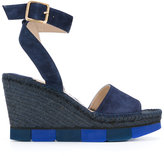 Paloma Barceló wedge sandals - women - Suede/Leather/rubber/Raffia - 37