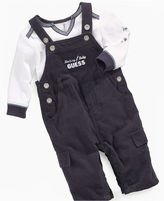 GUESS Layette Set, Baby Boys 2 Piece Tee and Overall