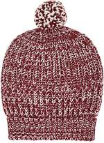 Barneys New York Women's Chunky Rib-Knit Wool-Blend Beanie