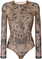 DSQUARED2 tattoo bodysuit