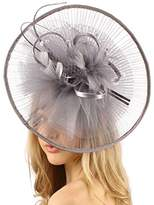SK Hat shop Big Kentucky Derby Feather Floral Organza Headband Fascinator Cocktail Hat