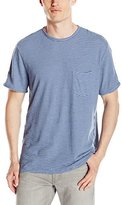 Velvet by Graham & Spencer Men's Legend Striped Linen Cotton Crew Neck Tee Shirt