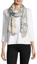 Lord & Taylor Fraas Plaid Patterned Scarf