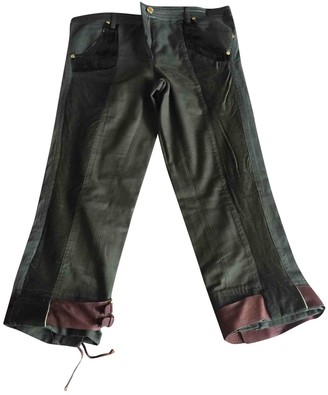 Roberto Cavalli Green Cloth Trousers for Women Vintage