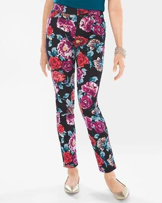 Chico's Chicos Sateen Rose-Print Jeggings