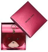MICHAEL Michael Kors Teddy Bear Fur Pom Pom Key Fob