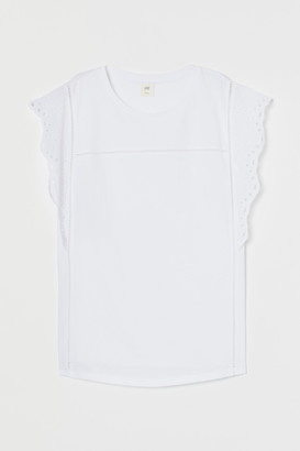 H&M H&M+ Embroidered-detail Top