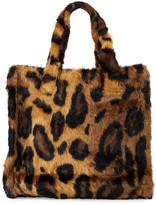 Stand Lolita Leopard Faux-Fur Medium Tote Bag