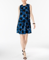 Alfani Petite Printed Pleated A-Line Dress, Created for Macy's