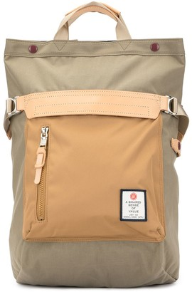 As2ov Contrast Panel Backpack