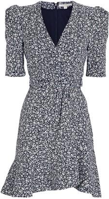 Jonathan Simkhai Evelyn Floral Crepe Mini Dress