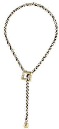 David Yurman Two-Tone Quatrefoil Lavalier Necklace