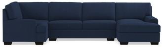 Apt2B Bradbury 3pc Sectional Sofa RAF in BLUE JEAN