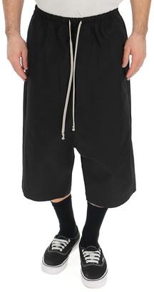 Rick Owens Geometric Long Drawstring Shorts