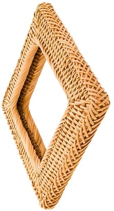 Cult Gaia Small Square Rattan Bangle