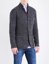 Brunello Cucinelli Waffle knit wool-blend jacket