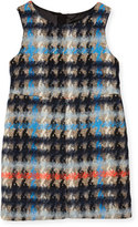 Milly Minis Sleeveless Houndstooth Shift Dress, Multicolor, Size 8-14