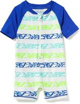Old Navy Shark-Stripe Rashguard One-Piece for Baby