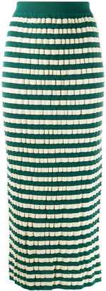 Marni Striped Pencil Skirt
