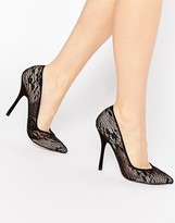 Paper Dolls Moretz Black Lace Pumps
