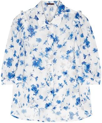 High Companion Floral-print Chiffon Blouse