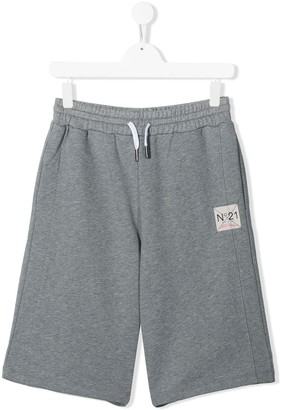 No21 Kids Logo Patch Shorts