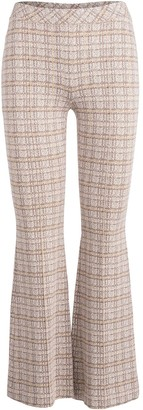 Rosetta Getty Check-Pattern Flared Trousers