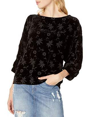 Pete & Greta by Johnny Was Women's Velvet Embroidered Blouse
