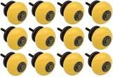 Nicola Spring Ceramic Cupboard Drawer Knobs - Yellow - Pack Of 12