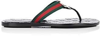 Gucci Women's Leather & Nylon Thong Sandals - Black