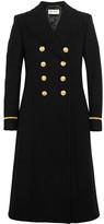 Saint Laurent Double-breasted Wool-blend Felt Coat - Black