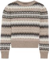 Marc Jacobs Fair Isle Wool Sweater - Beige