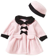 Starting Out Baby Girls 3-24 Months Velvet and Ribbon Detailed Coat