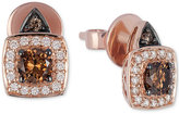 LeVian Le Vian Chocolatier® Chocolate and White Diamond Earrings (5/8 ct. t.w.) in 14k Rose Gold