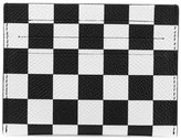 Givenchy Checkered Leather Card Case, Black/White