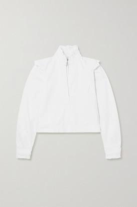 By Malene Birger + Net Sustain Breonia Frayed Ruffled Organic Denim Blouse - White