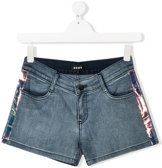 DKNY TEEN denim side panel shorts